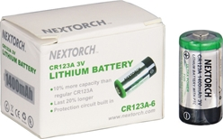CR123A BATTERIES - SIX PACK